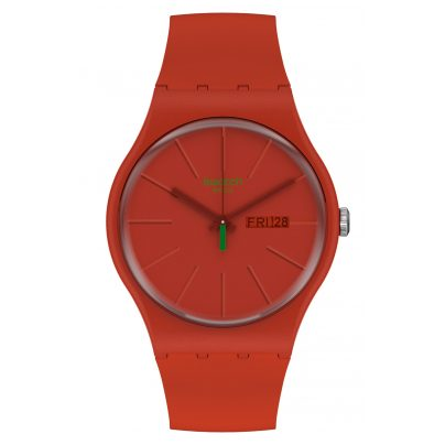Swatch SO29R700 Herrenuhr Redvremya Rot 7610522831384