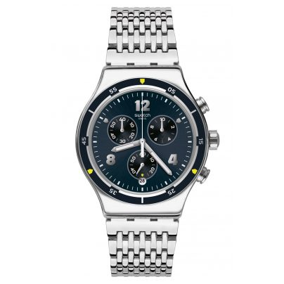 Swatch YVS457G Irony Men's Chronograph Meshme 7610522812369