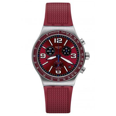 Swatch YVS464 Irony Men's Chronograph Wine Grid 7610522819160
