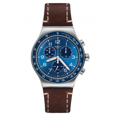 Swatch YVS466 Irony Herren-Chronograph Casual Blue 7610522819696