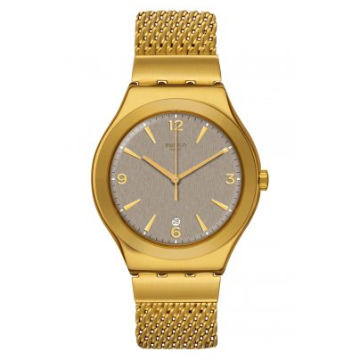 Swatch YWG409M Unisex Armbanduhr Irony Mesh O´Honey 7610522822351