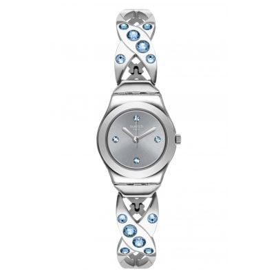 Swatch YSS332G Damen-Armbanduhr Silver Hug 7610522820326