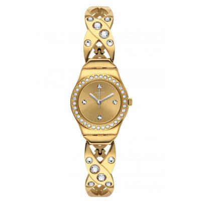 Swatch YSG164G Damenuhr Goldy Hug 7610522820302