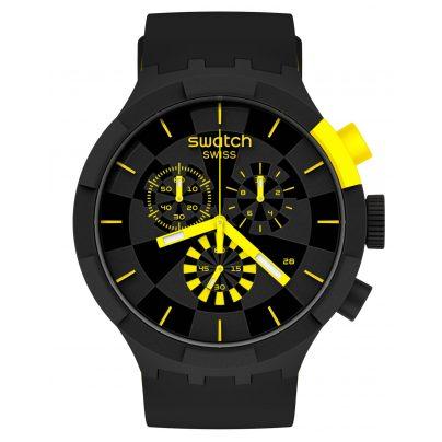 Swatch SB02B403 Big Bold Chrono Uhr Checkpoint Yellow 7610522832213