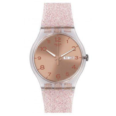 Swatch SUOK703 Pink Glistar Damenuhr 7610522686052