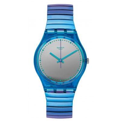 Swatch GL117B Ladies Watch Flexicold S with Elastic Bracelet 7610522690905