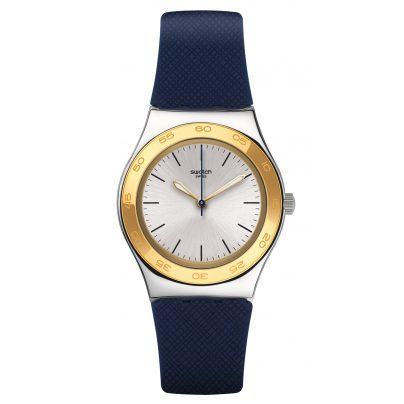 Swatch YLS191 Irony Medium Blue Push Damenuhr 7610522569577