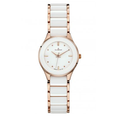 Dugena 4460773 Ladies Wrist Watch Ronda Ceramica 4050645022581