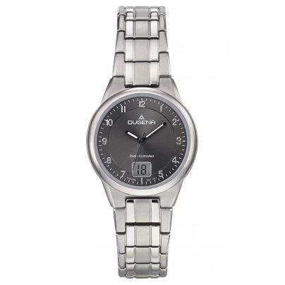 Dugena 4460836 Radio-Controlled Ladies' Wristwatch Titanium Gent 4250645009616