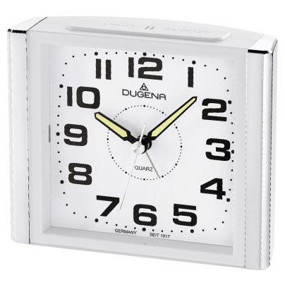 Dugena 4460594 Alarm Clock with Sweep Second Hand and Snooze 4060753000180