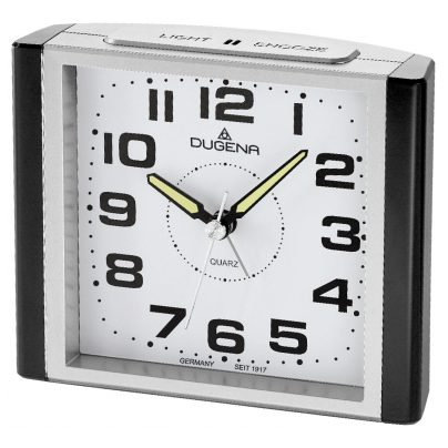 Dugena 4460593 Alarm Clock with Sweep Second Hand and Snooze 4060753000173