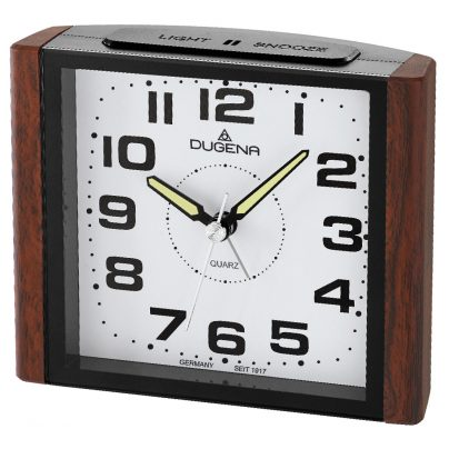 Dugena 4460592 Alarm Clock with Sweep Second Hand and Snooze 4060753000166