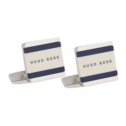 Boss 50385525-473 Cufflinks Fabian White/Dark Blue 4029047235455