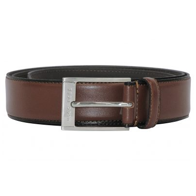 Boss 50386209-214 Mens Leather Belt Cleo Brown