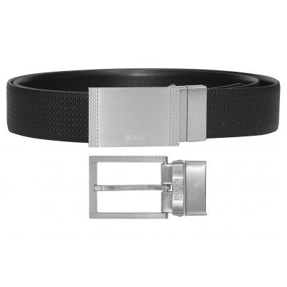 Boss 50408143-001 Men's Reversible Belt Gebert Black 4029049627951