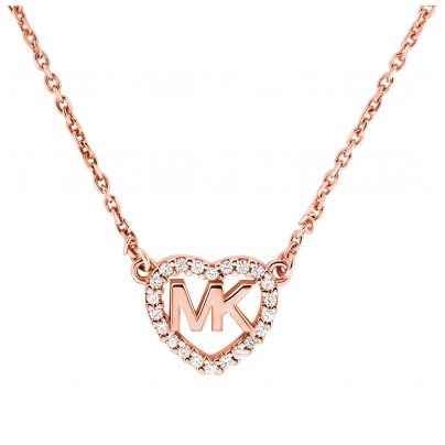 Michael Kors MKC1244AN791 Necklace Rose Gold Plated Silver 4013496533460