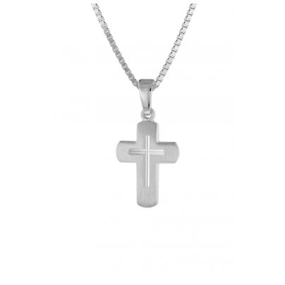 trendor 48887 Kinder-Anhänger Kreuz mit Kette Silber 4260143748887