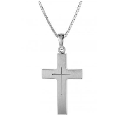 trendor 60712 Silver Cross Pendant Necklace 4260227760712