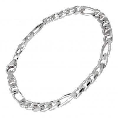 trendor 41444 Silber Herren Armband Figaro Breite 5,3 mm 4260143741444