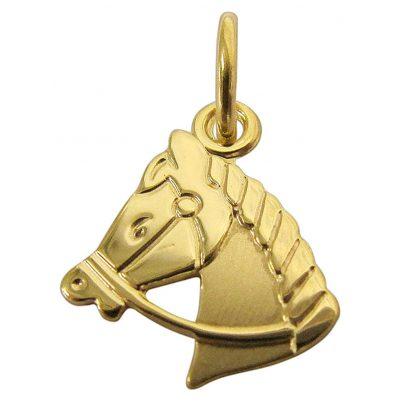 trendor 61085 Gold Anhänger Pferdekopf 4260227761085