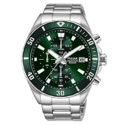 Pulsar PM3193X1 Men's Chronograph Watch Green 4894138041013