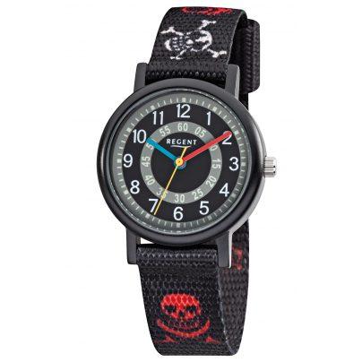 Regent F950 Aluminium Kids Watch Textile Strap Pirate 4045346089193
