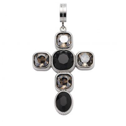 Leonardo 018760 Kreuz-Anhänger Venetta Clip&Mix Edelstahl 4002541187604