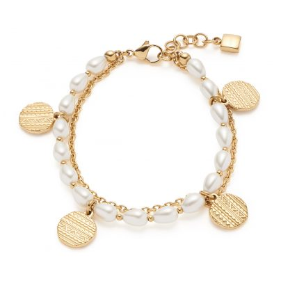 Leonardo 018307 Damen-Armband Ava Edelstahl goldfarben 4002541183071