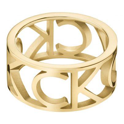 CALVIN KLEIN KJCSJR1001 Ladies' Ring Mania Gold Tone