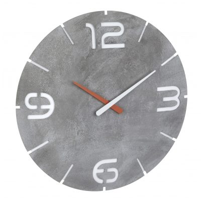 TFA 60.3536.15 Radio-Controlled Wall Clock Contour Concrete Look 4009816034670