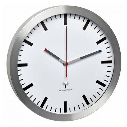 TFA 60.3528.02 Funk-Wanduhr mit Leisegang Silber/Weiß 4009816029744