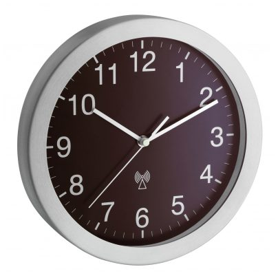 TFA 98.1091.08 Radio-Controlled Wall Clock Silver/Brown 4009816020086