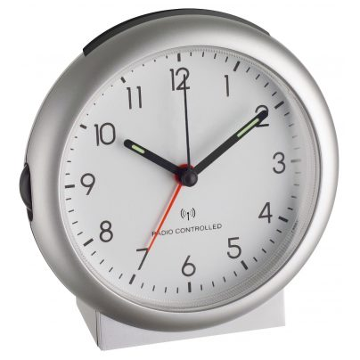 TFA 98.1036 Radio-Controlled Alarm Clock Silver 4009816014009