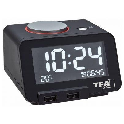 TFA 60.2017.01 Digitalwecker Homtime mit USB Ladefunktion 4009816030153