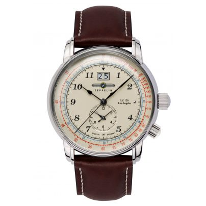 Zeppelin 8644-5 Mens Watch LZ126 Los Angeles Dual-Time 4041338864458