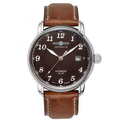 Zeppelin 8656-3 Mens Automatic Watch LZ127 Graf Zeppelin 4041338865639
