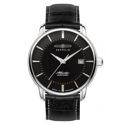 Zeppelin 8452-2 Gents Automatic Watch Atlantic Swiss Black Leather Strap 4041338845228