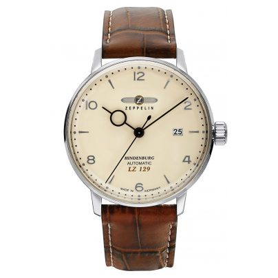 Zeppelin 8062-5 Men's Automatic Watch LZ129 Hindenburg Brown Leather Strap 4041338806250