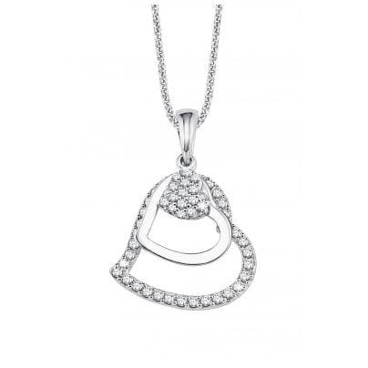 s.Oliver 9082575 Silber-Halskette mit Herz-Anhänger 4020689082575