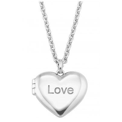 s.Oliver 2026085 Damen-Halskette aus Silber mit Medaillon 4056867017060