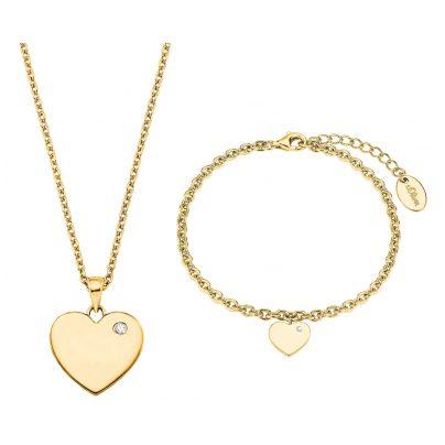 s.Oliver 2027003 Geschenkset Kette und Armband für Damen 4056867019781