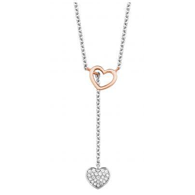 s.Oliver 2027841 Silber Damen-Halskette mit Herzen 4056867022019