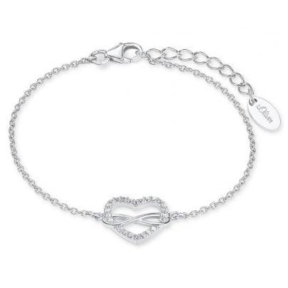 s.Oliver 2020972 Silber-Damenarmband Unendliche Liebe 4056867009874