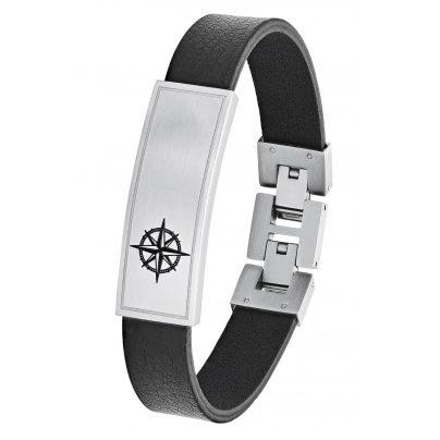 s.Oliver 2026134 Leder Herren-Armband Ident Kompass 4056867017480