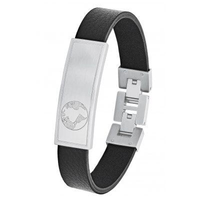 s.Oliver 2026125 Men's Leather Bracelet Black 4056867017428