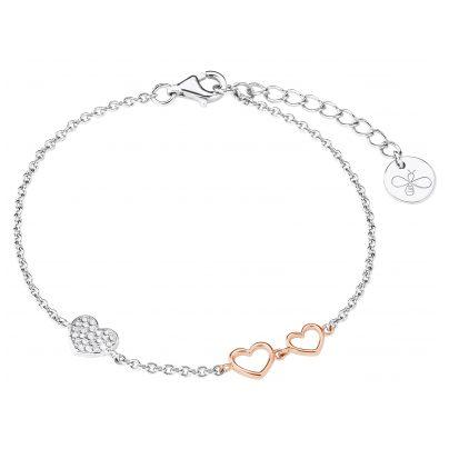 s.Oliver 2027842 Silver Ladies Bracelet Hearts 4056867022026