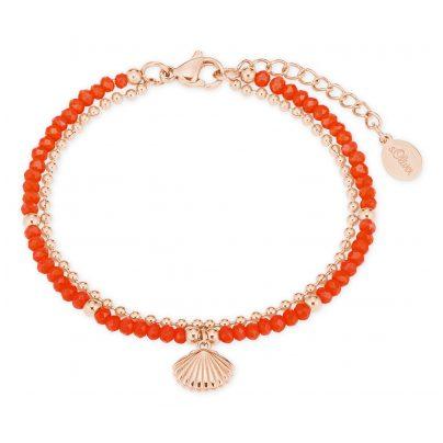 s.Oliver 2027600 Bracelet for Ladies Shell coral red / rose gold 4056867020909