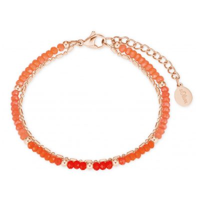 s.Oliver 2027601 Women's Bracelet Rose IP Stainless Steel Glass Beads 4056867020916