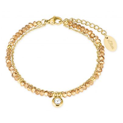s.Oliver 2027604 Ladies Bracelet Stainless Steel Gold IP 4056867020930