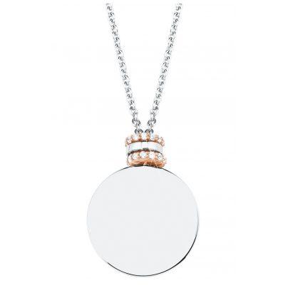 s.Oliver 2027611 Damen-Kette Halskette Silber 925 Bicolor Zirkonia 4056867021012